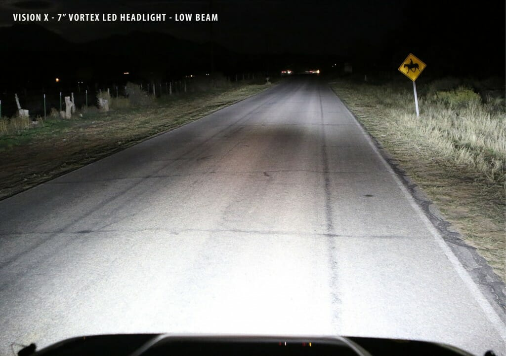 Vortext Headlight - Low Beam