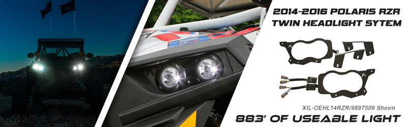 LED Twin Headlight System for 2014-2016 Polaris RZR XP Turbo